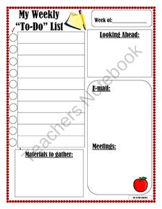To-Do List for Busy Teachers product from Joy-in-the-Journey on TeachersNotebook.com