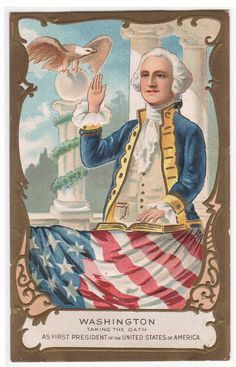 President George Washington Taking the Oath by ThePostcardDepot
