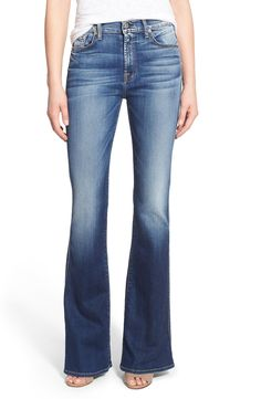 7 For All Mankind® High Rise Vintage Bootcut Jeans (Bright Indigo Stretch)
