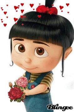 niña Cute Cartoon Wallpapers, Cartoon Pics, Cartoon Characters, Agnes Despicable Me, Minions Despicable Me, Gif Bonito, Gif Lindos, Cute Disney, Cute Gif