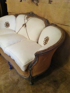 French Antique Rustic Sofa by antique2chic on Etsy.....to die for. $2,250.00
