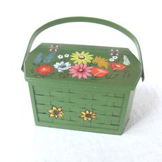 Vintage Green Caro Nan Basket Purse  $ 30.00, via Etsy.