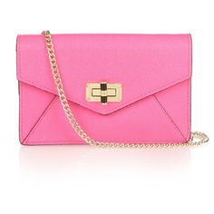Diane Von Furstenberg 440 Gallery Bitsy leather cross-body bag ($128) ❤ liked on Polyvore featuring bags, handbags, shoulder bags, leather crossbody, pink shoulder bag, leather purse, crossbody handbags and pink leather handbag