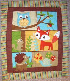 baby quilt woodland animals - Google Search
