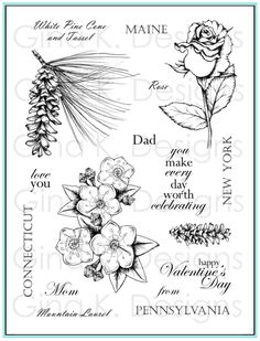 """Take a virtual stamping road trip across the US, with official flowers from every state, with the """"Stately Flowers"""" series!  You'll love be..."""