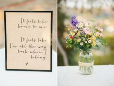Song lyric center pieces (would have guests find their table by matching the band on their place card with the lyrics of the center piece)