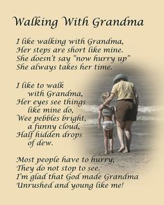 """""""Walking with Nana."""" Dale Kincaid Sold A x Print of """"Walking with Nana"""" to A Buyer From Eustace, Texas, USA. Grandma Quotes, Nana Poems, Daughter Quotes, Sister Quotes, Nephew Quotes, Poems For Grandma, Father Daughter, Pomes, Grandparents Day"""