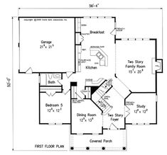 Only like breakfast/kitchen/family layout....Westpointe - Home Plans and House Plans by Frank Betz Associates