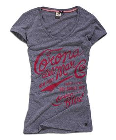 Another great find on #zulily! Gray & Pink Melange 'Corona' Scoop Neck Tee by TIMEOUT #zulilyfinds