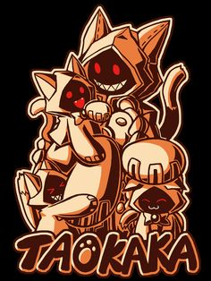Blazblue Taokaka t-shirt! The respected, if lazy, warrior of the the Kaka Tribe has some down time with some of the village kittens!