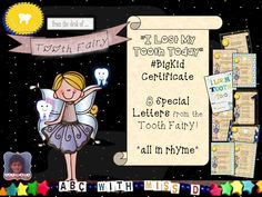 Instant Tooth Fairy Magic! Big Kid's Milestone- Lost Tooth Certificate- 8 Rhyming Letters from the Tooth Fairy! Celebrate every tooth! by ABCwithMissD on Etsy