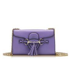Yummy!  Gucci Emily chain bag in a lusciously creamy lavender!