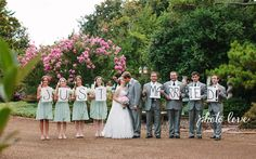 Wedding Party Poses | Mint Green Wedding Party | Fun Wedding Party Pose