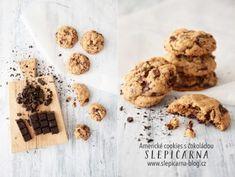 Recept na americké cookies sčokoládou – SLEPIČÁRNA Krispie Treats, Rice Krispies, Brownie Cookies, Brownies, Cereal, Sweets, Chocolate, Baking, Breakfast