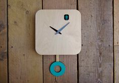 B83Box is a modern cuckoo clock with a battery operated quartz mechanism. It has a little mechanized cuckoo bird that chirps and flaps its wings on every hour. Its equipped with an automated shut off using a light sensor, so once the sun is down or the lights are switched off he will keep