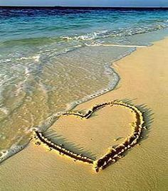 Inspirational Beach Sand Writing | beach love sand water What is Love ...