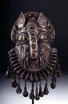 Edo Uhunmwun Ekue (Leopard Hip Pendant), Benin, Nigeria…