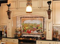 What better way to feel like you're in Italy than a mural of a vineyard in your kitchen? HGTV fanbusymommyathome installed this hand-painted mural to bring a touch of Italy to her home.