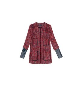 Workwear on a Budget: Zara boucle and leather coat     https://secure.elleuk.com/fashion/what-to-wear/workwear-under-100#image=28