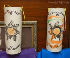 This post has TONS of ideas for a Tangled theme birthday.. games, food, crafts, decorations, favors. I love these lanterns for the kids to make and take