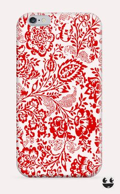 iPhone Case iPhone 4 Case & iPhone 4S, Case iphone 5 Case & iPhone 5S Case, iPhone 5C Case, iPhone 6 Case & iPhone 6, Plus  Red Floral