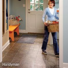 We'll show you how to measure, cut and install a new sheet vinyl floor. No special skills are needed, just patience and attention to detail will give y