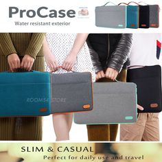 Laptop Chromebook Sleeve Fashion Case Protective Bag MacBook Ultrabook Dell HP