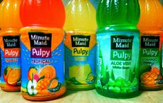 Indonesian minute maid... 5 varians : orange, tropical, lemon, , aloevera white grape, o'mango