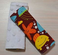 Car Seat Strap Covers  Maroon Sea Creatures by EllaynaBoutique, $7.00