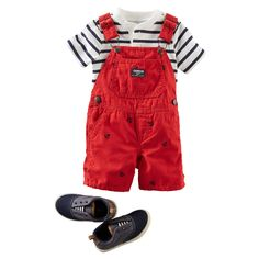 He's all aboard in this nautical USA combo. Crisp red, white and blue top canvas sneakers for a style worth saluting.