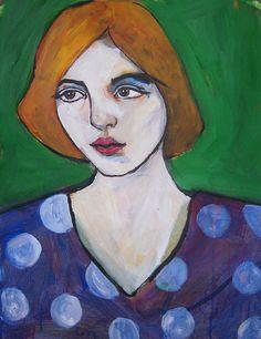 "Portrait  "" unknown model (customs) ""  original painting, ,paper, large painting"