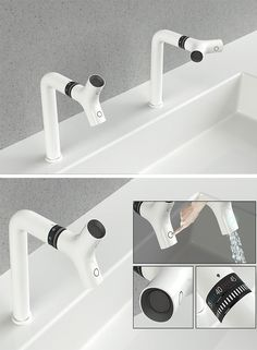 Doesn't just double, but does triple duty as one regular tap for washing hands, one for washing hair, and two when placed in the halfway position so two people can use at once. All this with just a simple twist! The faucet also has unique temperature control tech that keeps the flow of water constant and stable once it is adjusted to an exact preferred temperature.