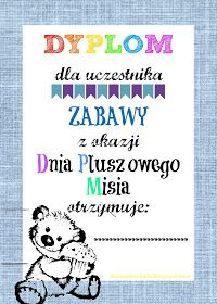 Dzieckiem bądź: Dyplomy na Dzień Pluszowego Misia Teacher Inspiration, Beard Gang, Educational Activities, Kids And Parenting, Diy And Crafts, Kindergarten, Preschool, Projects To Try, Teddy Bear