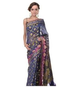 Silk Blend Saree with Blouse | I found an amazing deal at fashionandyou.com and I bet you'll love it too. Check it out!