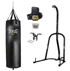 Everlast Single Station Heavy Bag Stand with Choice of a Heavy bag kit, Women?s Heavy Bag Kit, Everlast Boxing Kit Heavy Bag Stand, Punching Bag, No Equipment Workout, Fitness Equipment, Fun Workouts, Rubber Rain Boots, Bags, Stuff To Buy, Kit