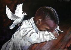Peace+on+earth pastel by Catherine Wernette kp Black Love Art, Black Girl Art, Black Art Painting, Creation Art, Black Art Pictures, African American Artist, Africa Art, Biblical Art, Baby Art