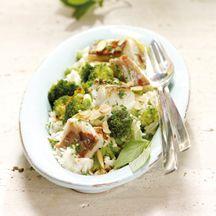Broccolipfanne mit Seelachs