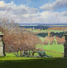 """""""An Extensive View of Runnymede"""" by Alan Bennett. Runnymede Campus. Collection:  Brunel University Artworks Collection"""
