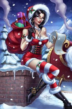 Zenescope 2014 Holiday Edition cover by Sabinerich.deviantart.com on @DeviantArt