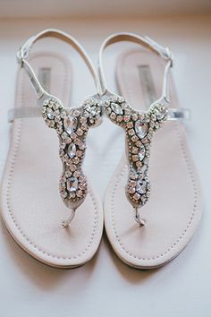 embellished bridal sandals   www.onefabday.com