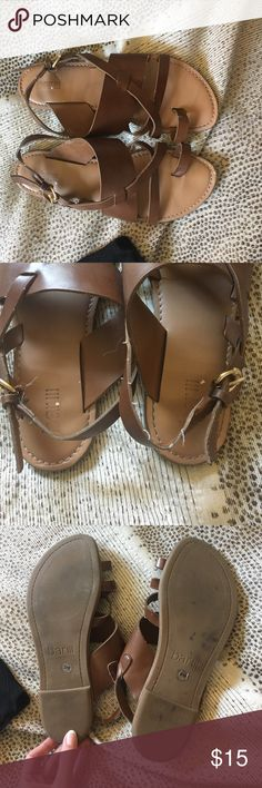 Bar III Brown Sandals - Sz 6 Show some wear. Still great shoes Bar III Shoes Sandals