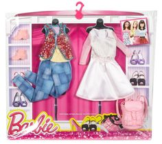 NEW! 2016 BARBIE COMPLETE LOOK FASHION 2-PACK  WHITE DRESS & JEANS | eBay