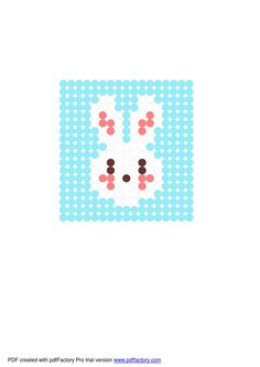 Free Easter Bunny hama bead pattern from Cupcake Cutie