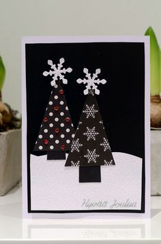 Christmas cards diy - black&white