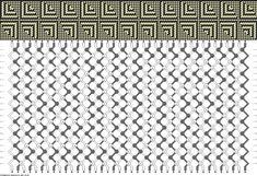 40 strings, 20 rows, 2 colors, friendship bracelet pattern