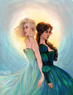 """Source: http://may12324.tumblr.com/post/131786529228/aelin-and-lysandra-you-and-i-are-nothing-but Aelin and Lysandra.   """"You and I are nothing but wild beasts wearing human skins."""""""