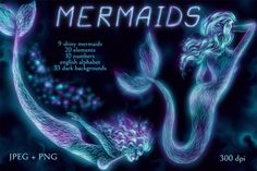 Shiny Mermaids By Salted Galaxy