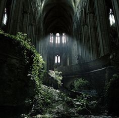 Abandoned cathedral of St Etienne of Bourges, France