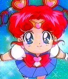Chibi Chibi becomes Sailor Chibi Chibi and gives Eternal Sailor Moon a power up! (SM Stars/S5 Episode 187 )