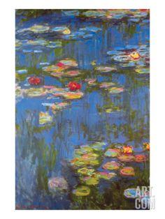 Water Lilies No. 3 Art Print by Claude Monet at Art.com